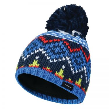 Ebony Grey 3-6 Years Regatta Dare 2B Kids Badges Beanie Hat
