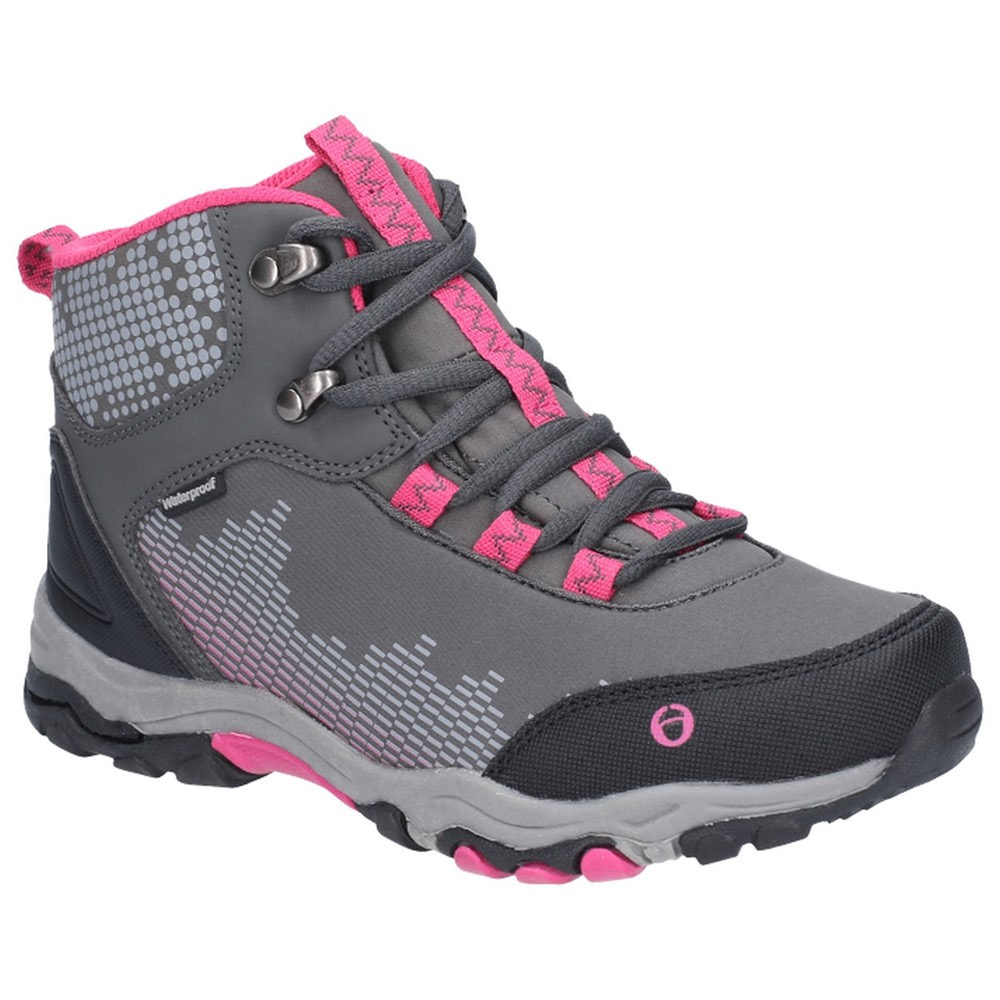 Cotswold Kids Ducklington Waterproof Softshell Hiking Boots-pink-2 Junior