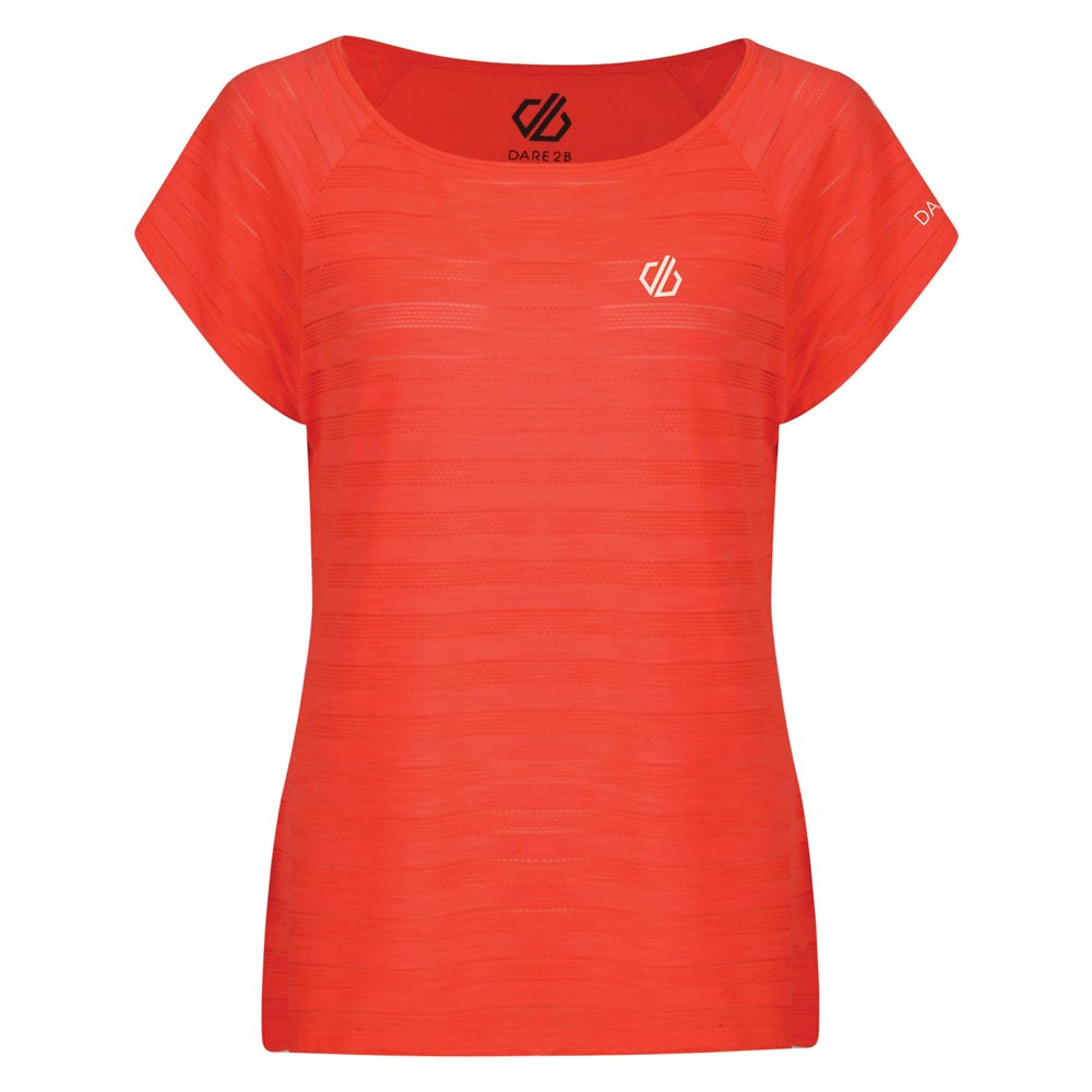 Dare 2b Womens Efficiency Ventilated T-Shirt - Fiery Coral
