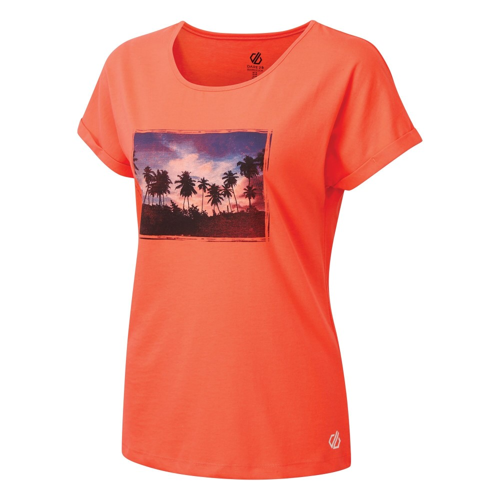 Dare 2b Womens Improve T-shirt-fiery Coral-18
