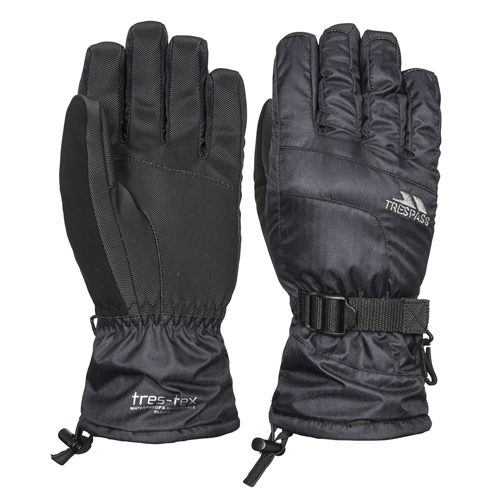 Trespass Unisex Embray Waterproof Ski Gloves-black-m