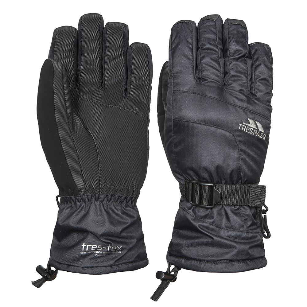 Trespass Unisex Embray Waterproof Ski Gloves-black-xl