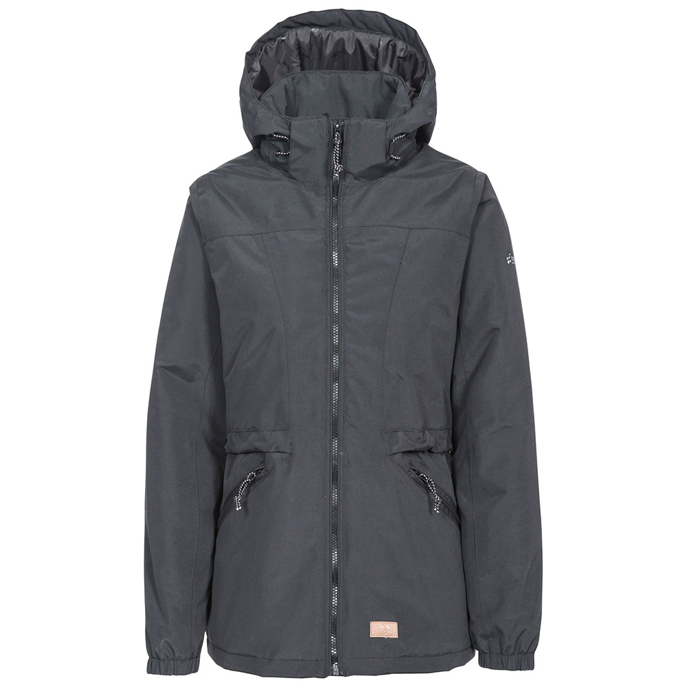 Trespass Womens Liberate Waterproof Jacket - Black - 14