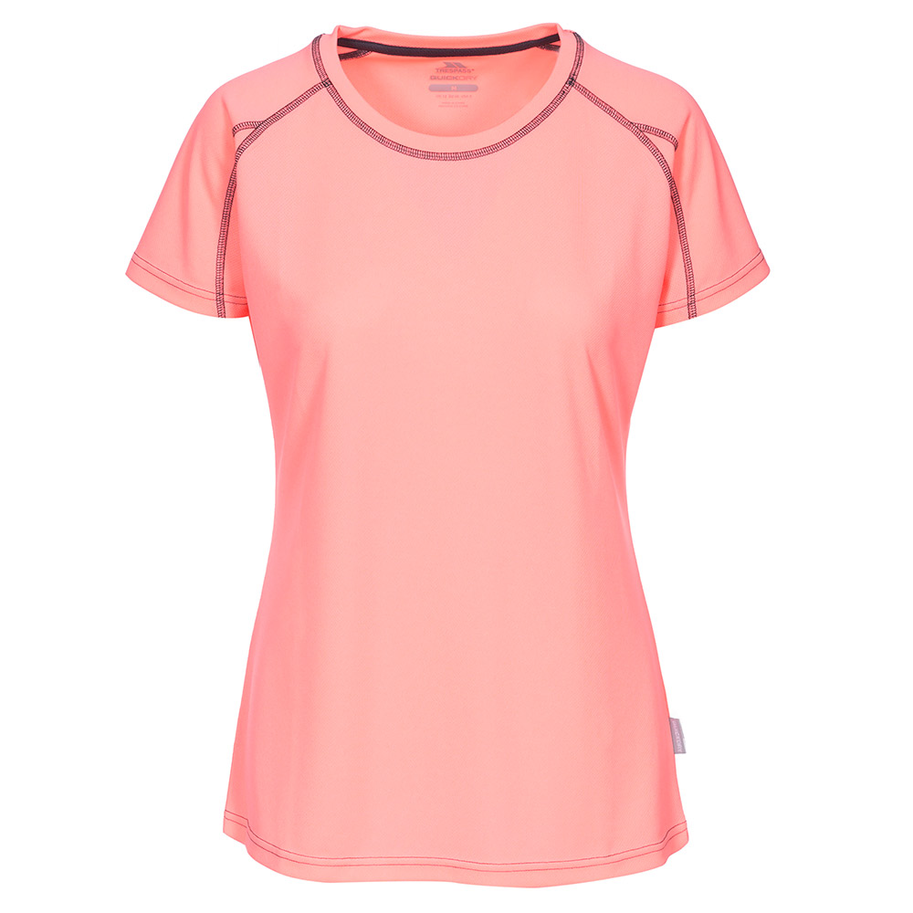 Trespass Womens Mamo Active T-Shirt-Pink-12