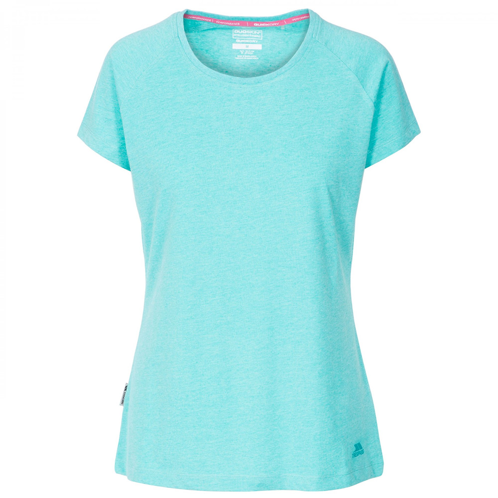 Trespass Womens Benita Casual T-Shirt-Blue-14