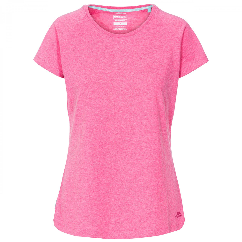 Trespass Womens Benita Casual T-Shirt-Pink-12