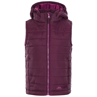 Trespass Girls Aretha Gilet-potent Purple-11-12 Years