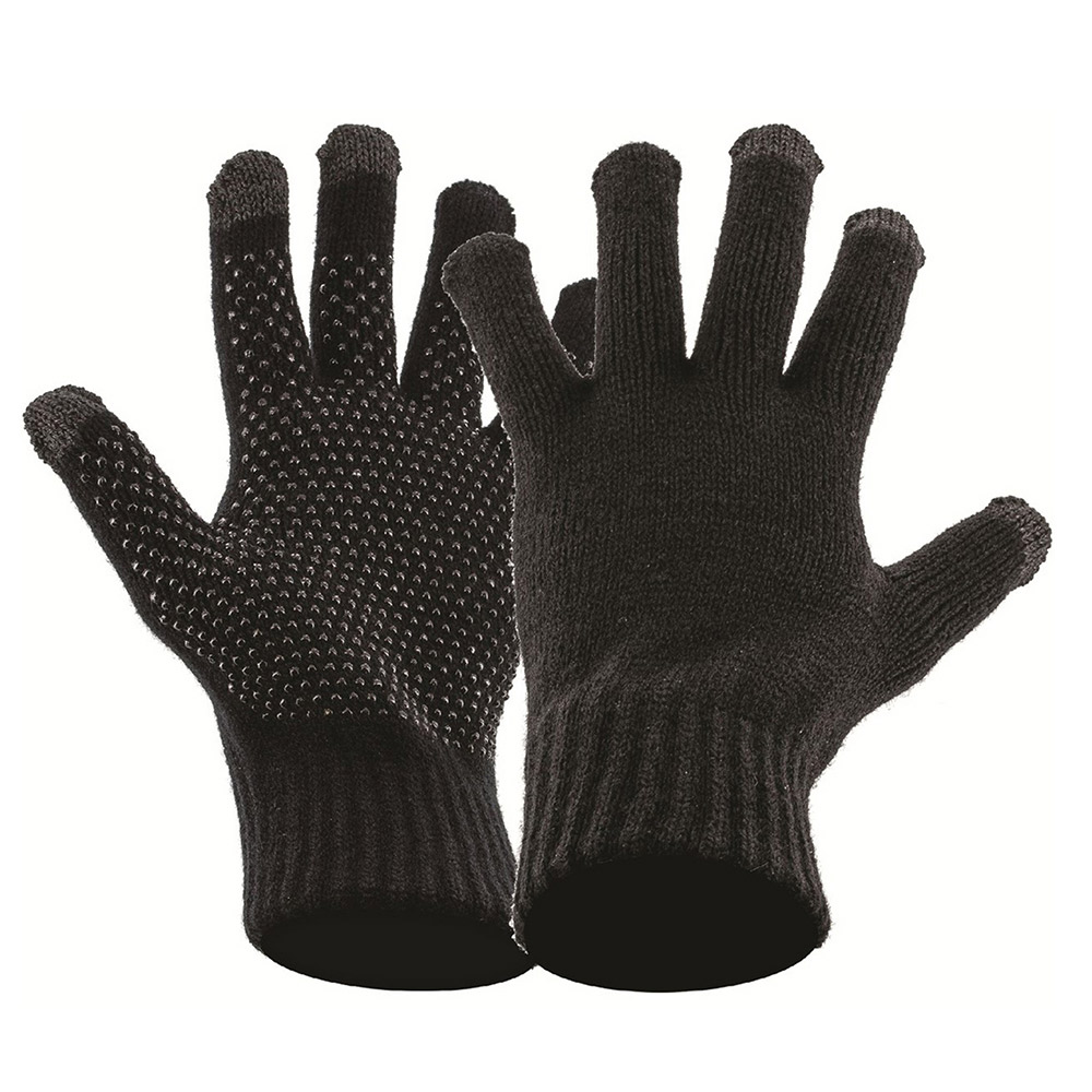 Highlander Touch Screen Knit Gloves - Black - S/m