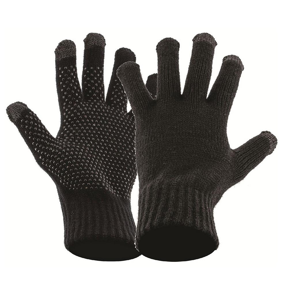 Highlander Touch Screen Knit Gloves - Black - L/xl