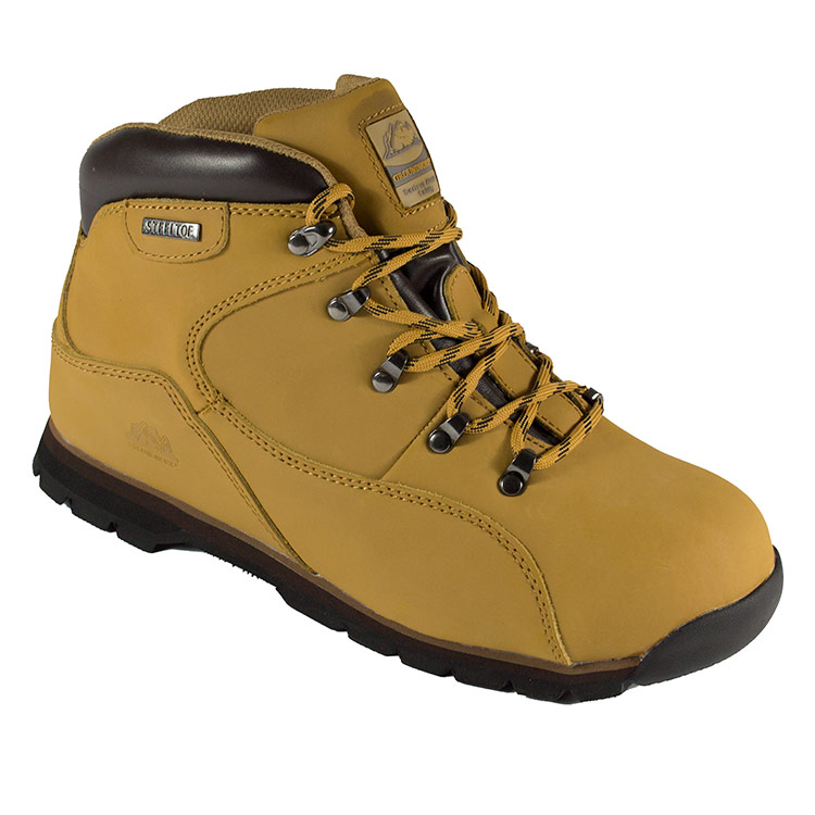 Groundwork Mens Gr66 Safety Boots - Honey - 10