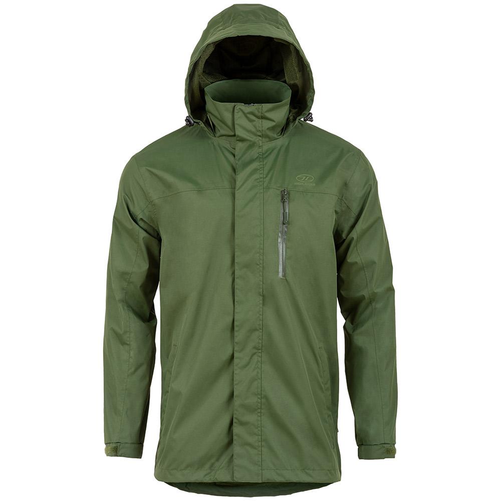 Highlander Mens Arran Waterproof Jacket-olive Green-xl