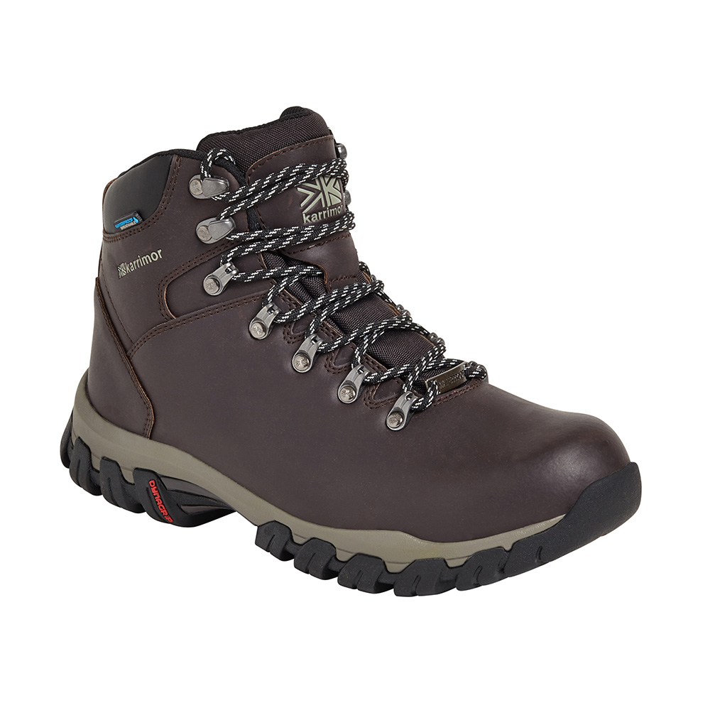 Karrimor Womens Mendip 3 Leather Hiking Boots - Chocolate - 5