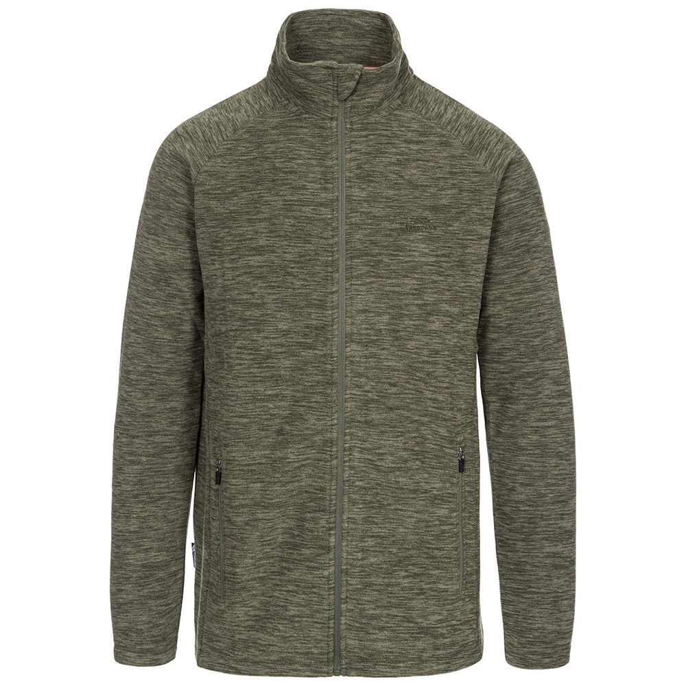 Trespass Mens Veryan Fleece Jacket-basil-l
