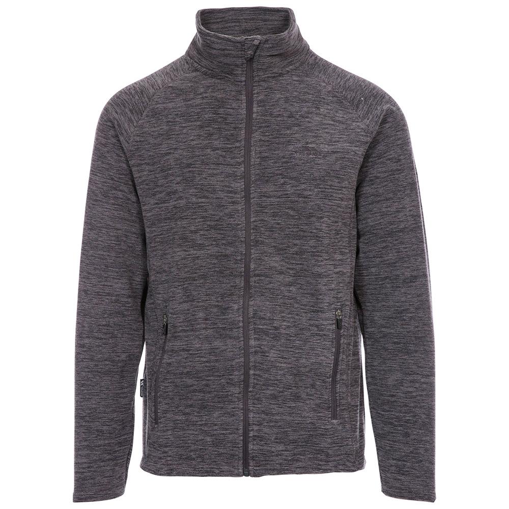 Trespass Mens Veryan Fleece Jacket-dark Grey-xl