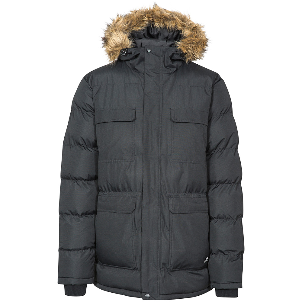 Trespass Mens Baldwin Waterproof Parka - Black - 2xl