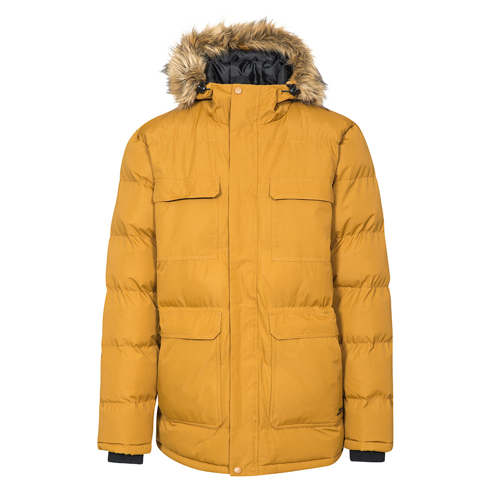 Trespass Mens Baldwin Waterproof Parka - Golden Brown - M