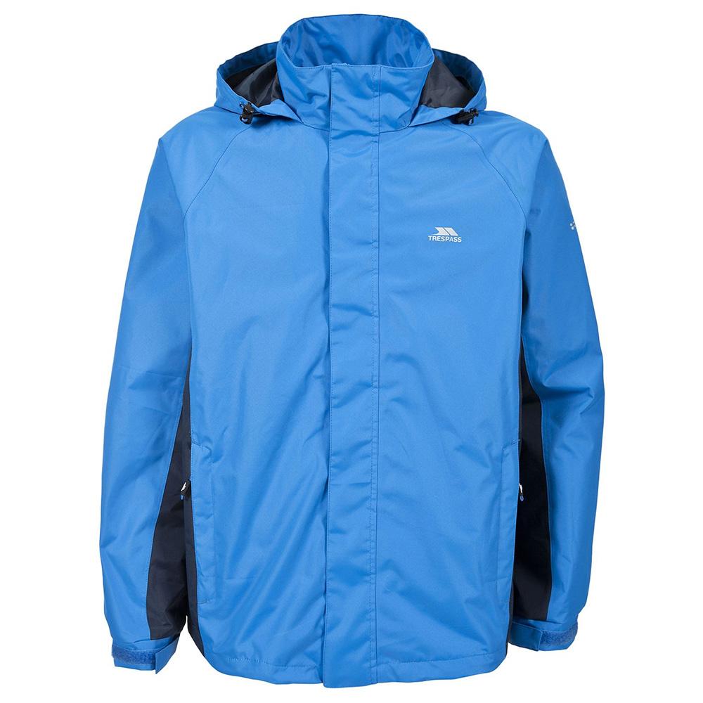 Trespass Mens Rogan Ii Waterproof Jacket - Bright Blue - Xl