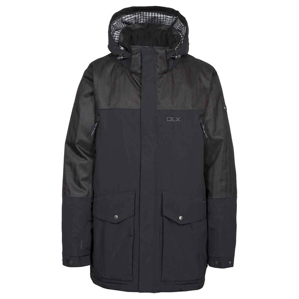 Trespass Mens Larken Dlx Waterproof Jacket-black-m