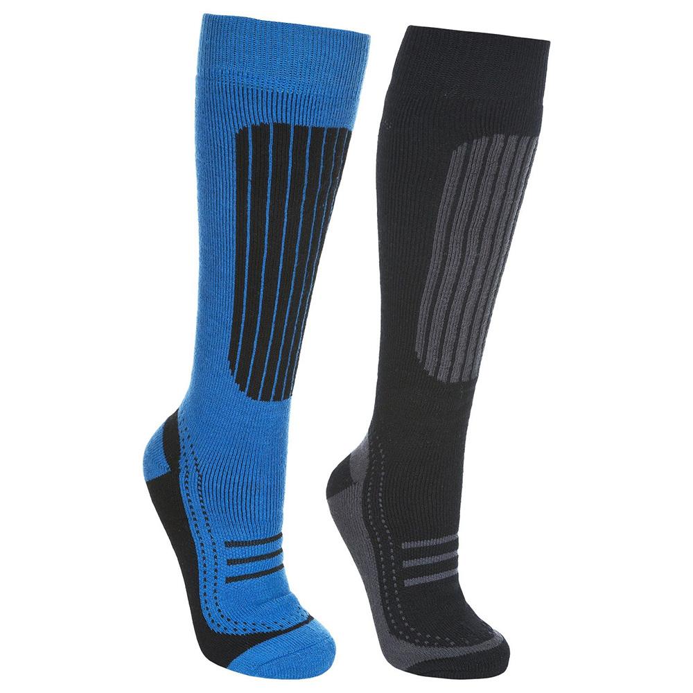 Trespass Mens Langdon Ii Ski Sock - Black / Blue - 4 - 7