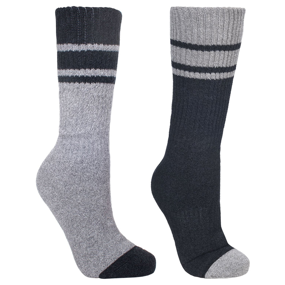 Trespass Mens Hitched Hiking Socks - (2 Pack) - Size 4-7