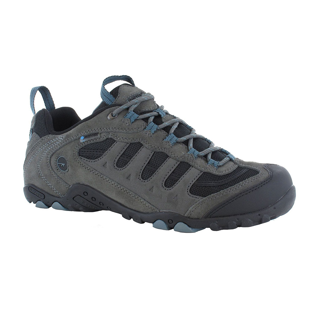 Hi-tec Mens Penrith Low Waterproof Walking Shoe - Grey / Black - 7
