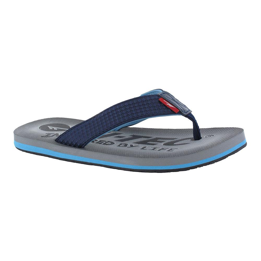 Hi-tec Mens Shadow Thong Flip Flops-blue-7