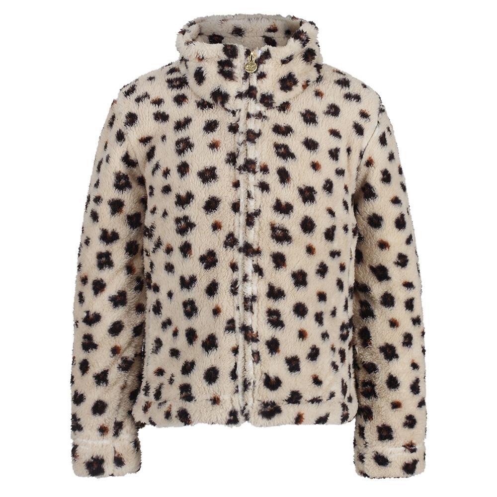 Regatta Kids Kazumi Full Zip Fleece-leopard Print-3-4 Years
