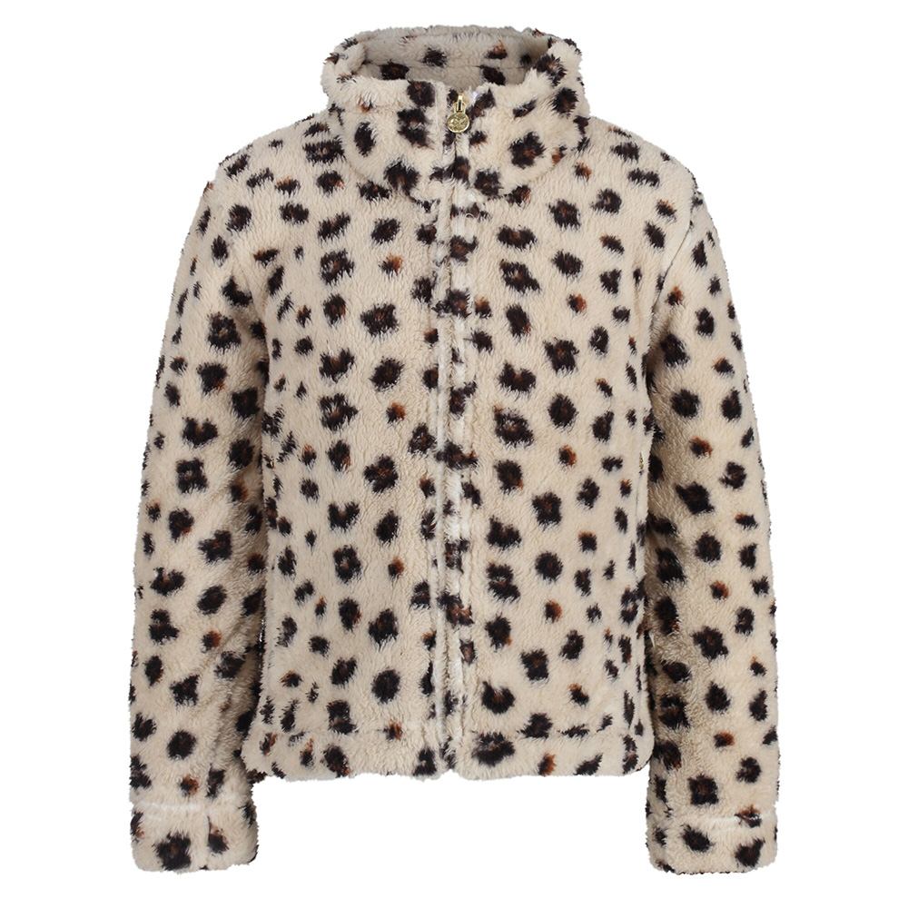 Regatta Kids Kazumi Full Zip Fleece-leopard Print-5-6 Years