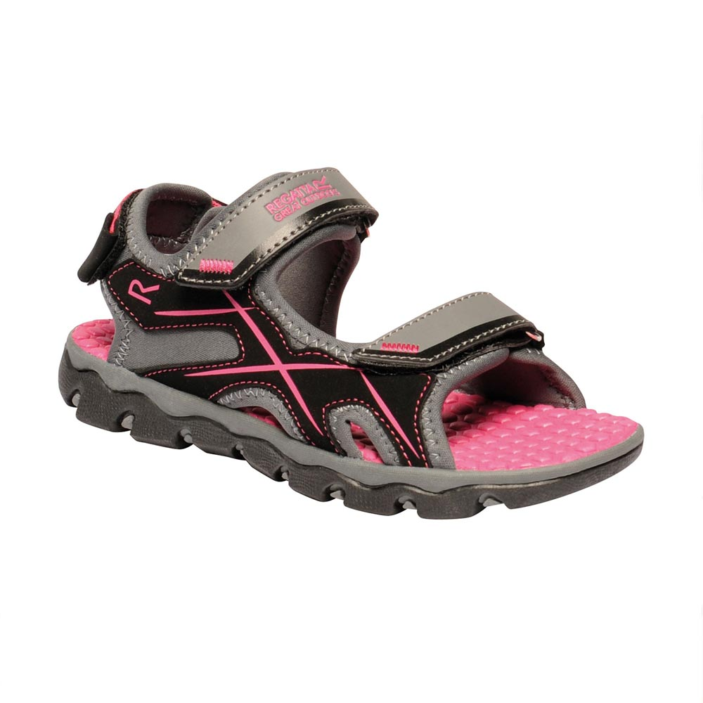 Regatta Kids Kota Drift Sandals-granite / Cabaret-2 Junior