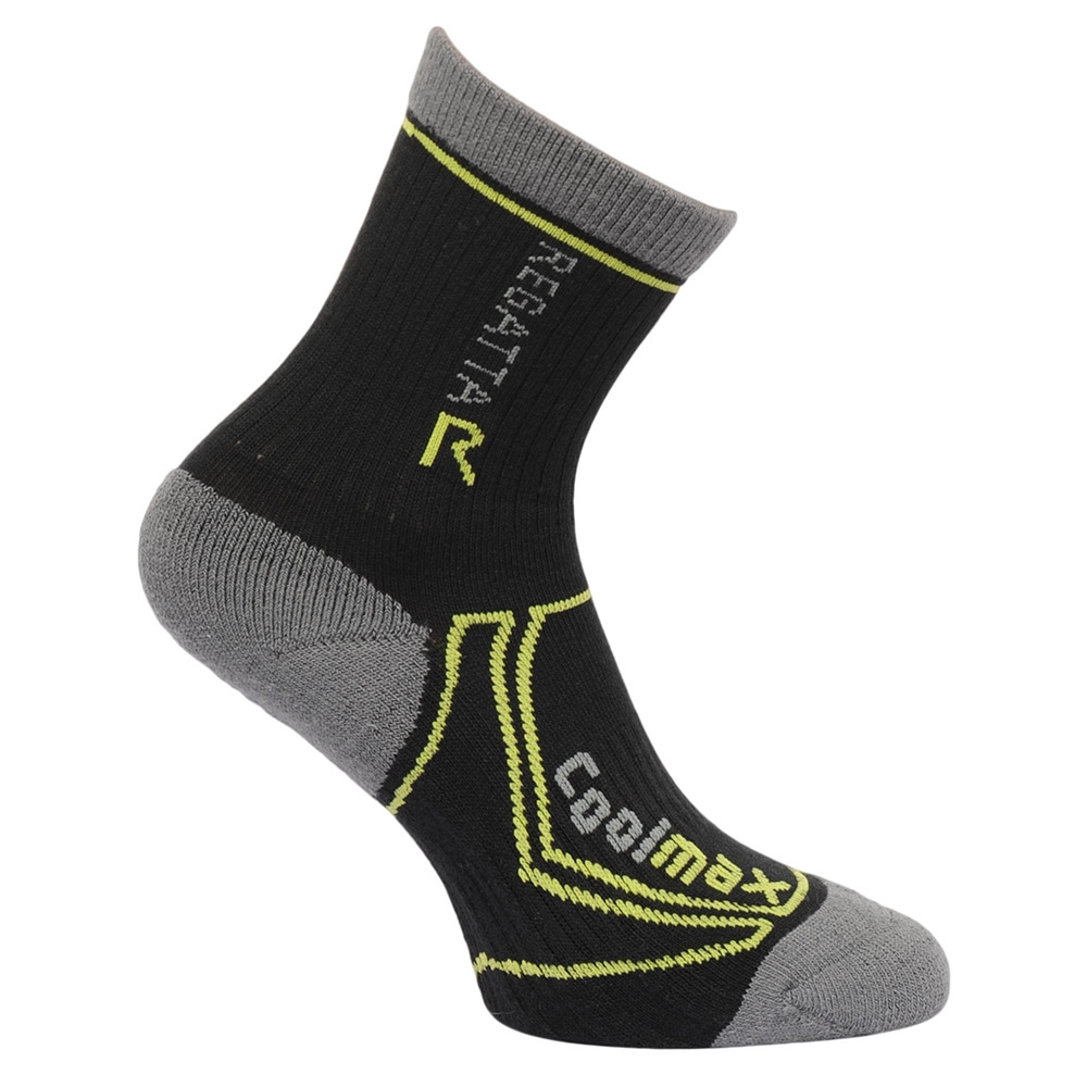 Regatta Kids 2 Season Trek Trail Socks - Black Oasis - 3 Junior - 5.5 Junior