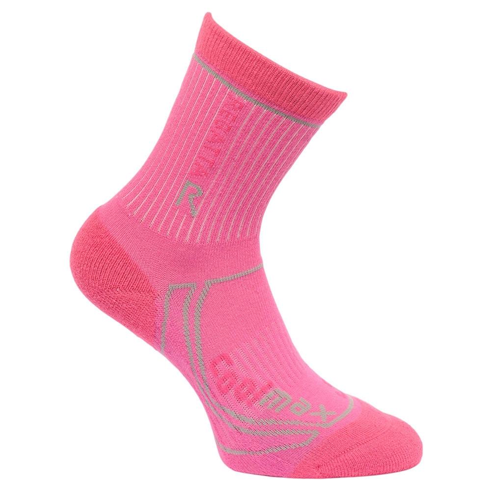Regatta Kids 2 Season Trek Trail Socks - Raspberry Rose / Jem - 13 Junior - 2 Junior