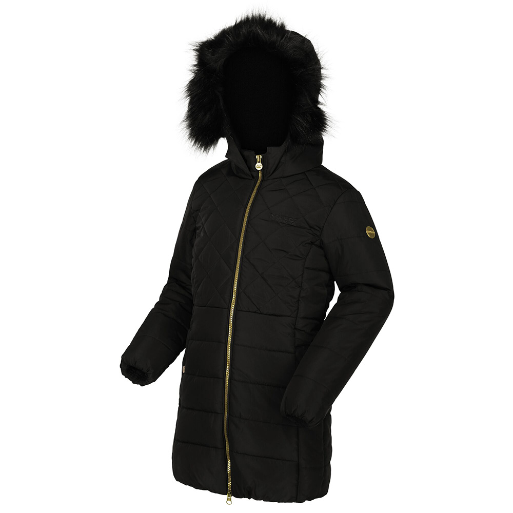 Regatta Kids Bernadine Insulated Jacket-black-7-8 Years