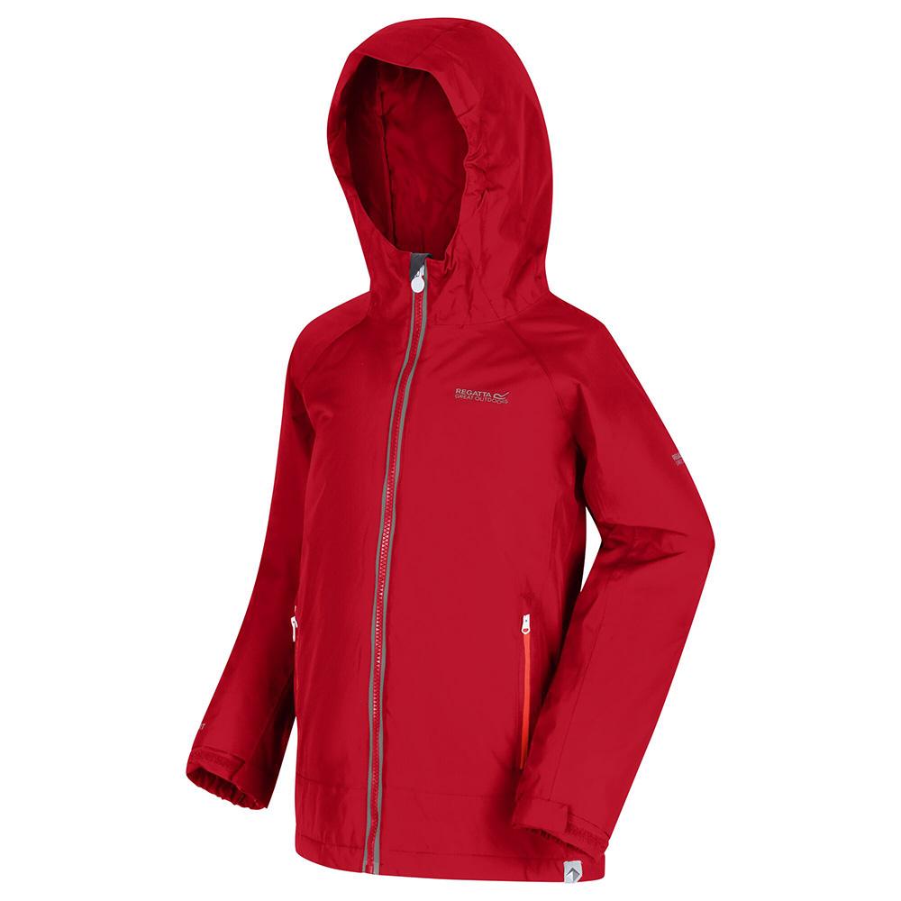 Regatta Kids Hurdle Iii Waterproof Jacket-dark Cerise-5-6 Years