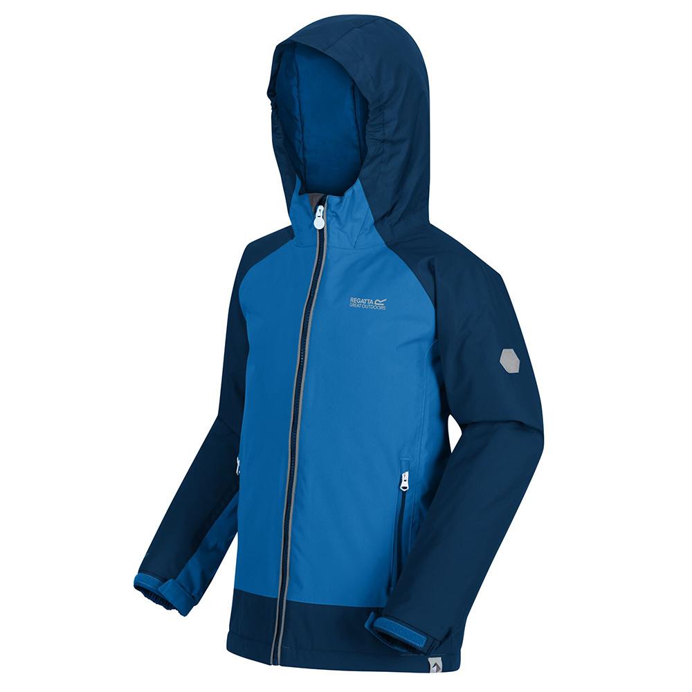 Regatta Kids Hurdle Iii Waterproof Jacket-imperial Blue / Deep Space-5-6 Years