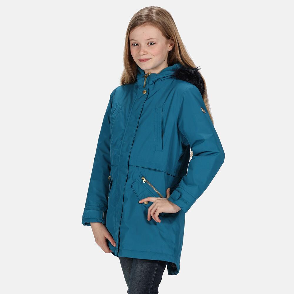 Regatta Kids Honoria Waterproof Parka-dark Methyl-13 Years
