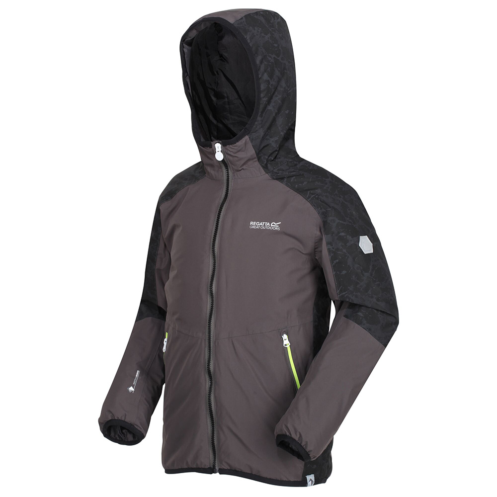 Regatta Kids Volcanics Iv Waterproof Insulated Jacket-magnet / Black-11-12 Years