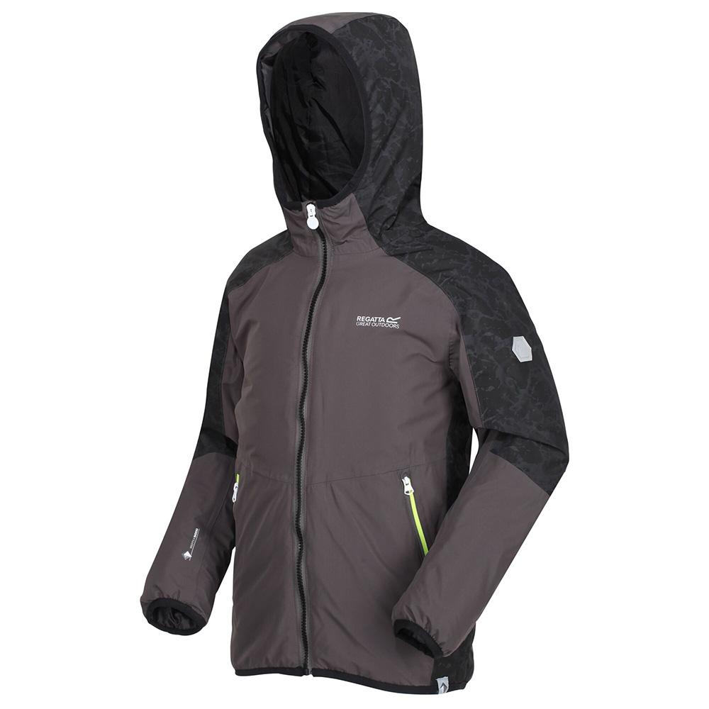 Regatta Kids Volcanics Iv Waterproof Insulated Jacket-magnet / Black-13 Years