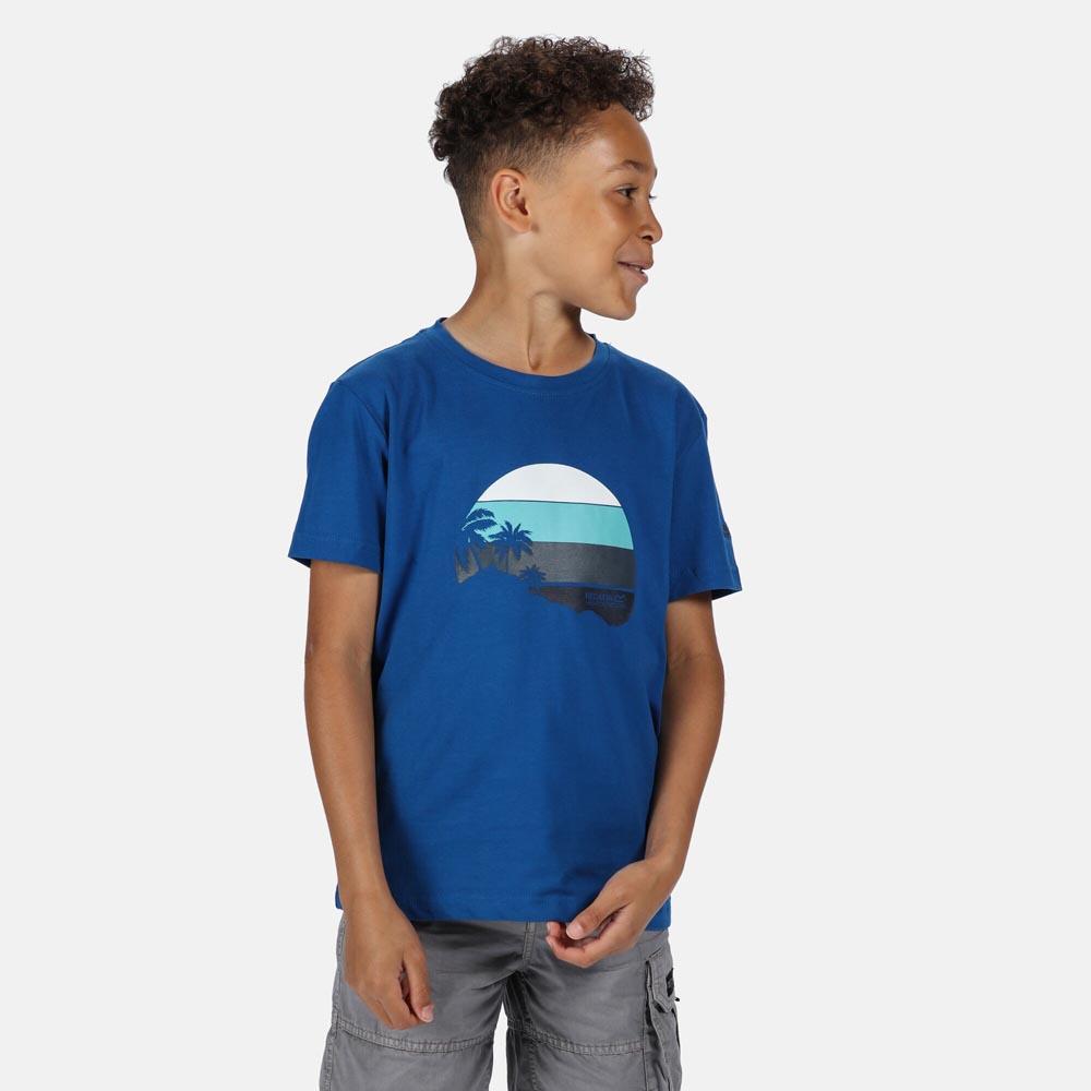 Regatta Kids Bosley Iii T-shirt-nautical Blue-7-8 Years