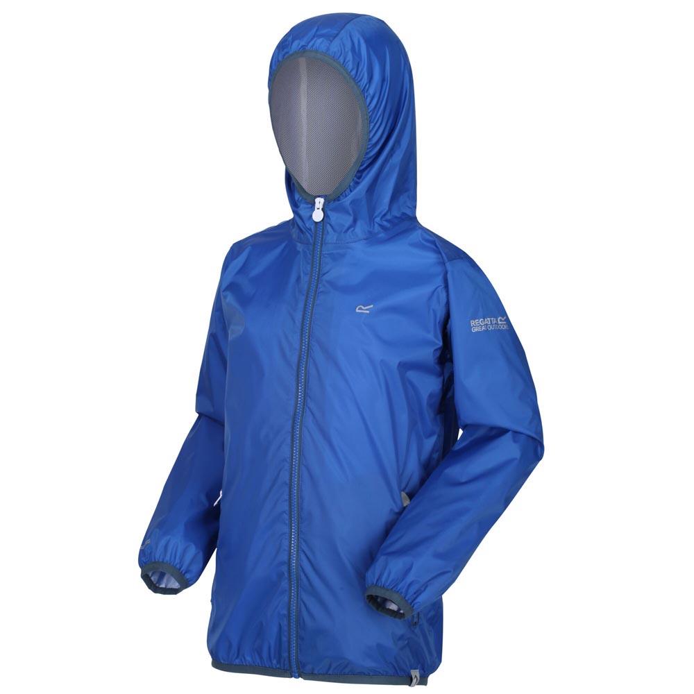 Regatta Kids Lever Ii Waterproof Jacket-nautical Blue-7-8 Years