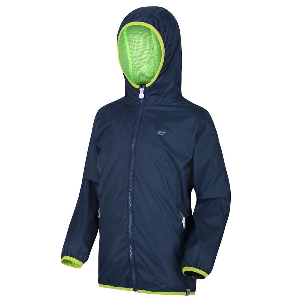 Regatta Kids Lever Ii Waterproof Jacket-dark Denim-5-6 Years