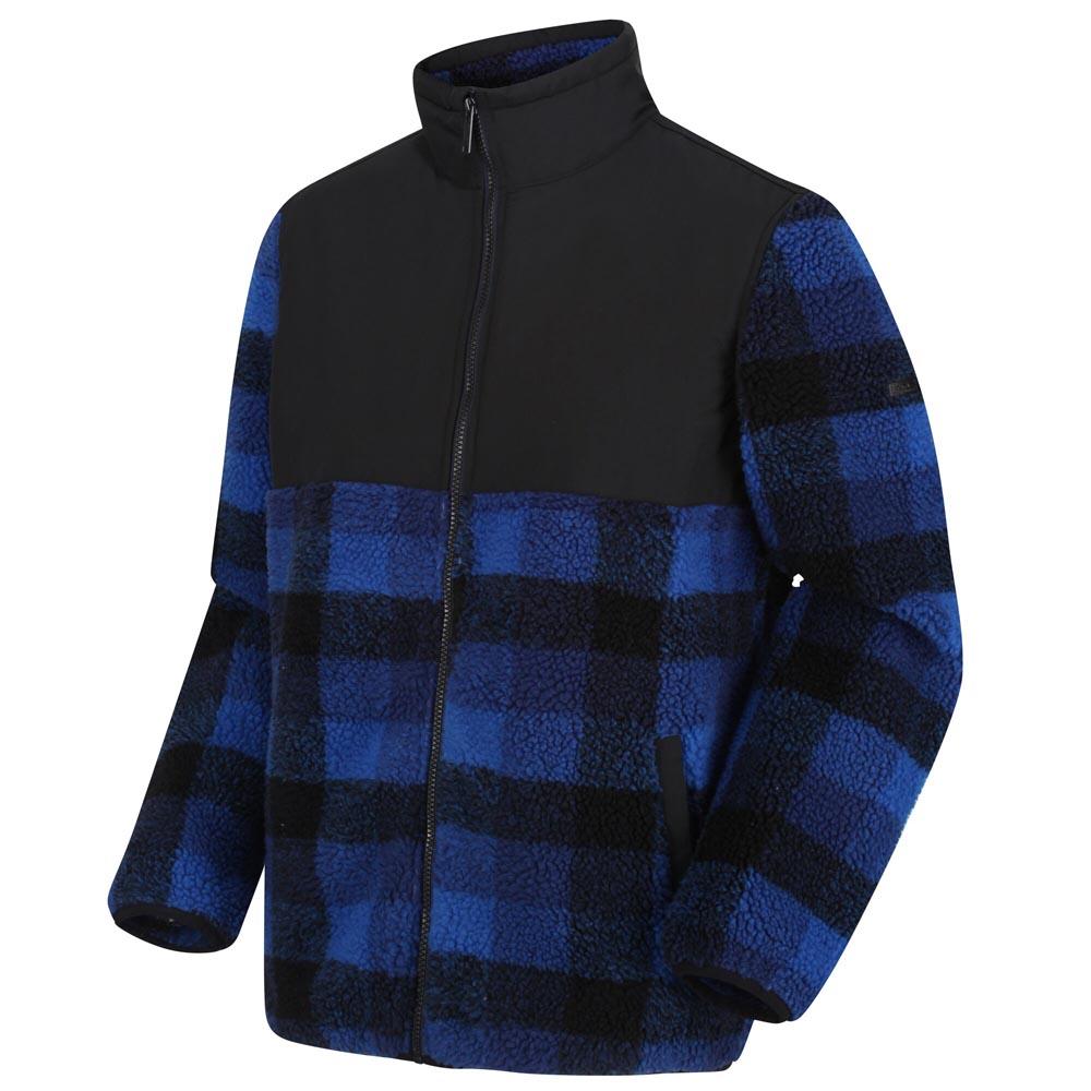 Regatta Mens Cadao Full Zip Heavyweight Fleece-royal Blue Check-s