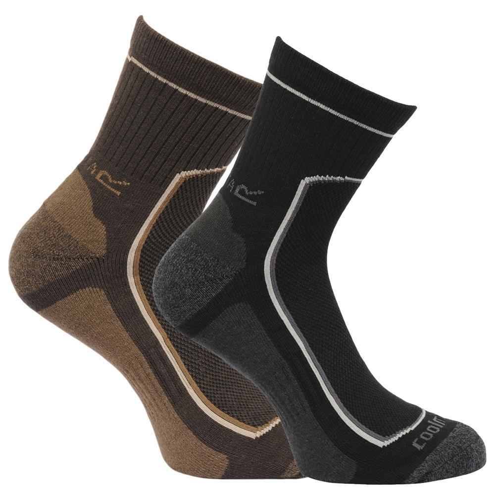 Regatta Mens Active Lifestyle Socks Twin Pack