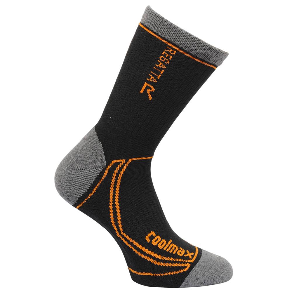 Regatta Mens 2 Season Coolmax TrekandTrail Socks-black-9 - 12