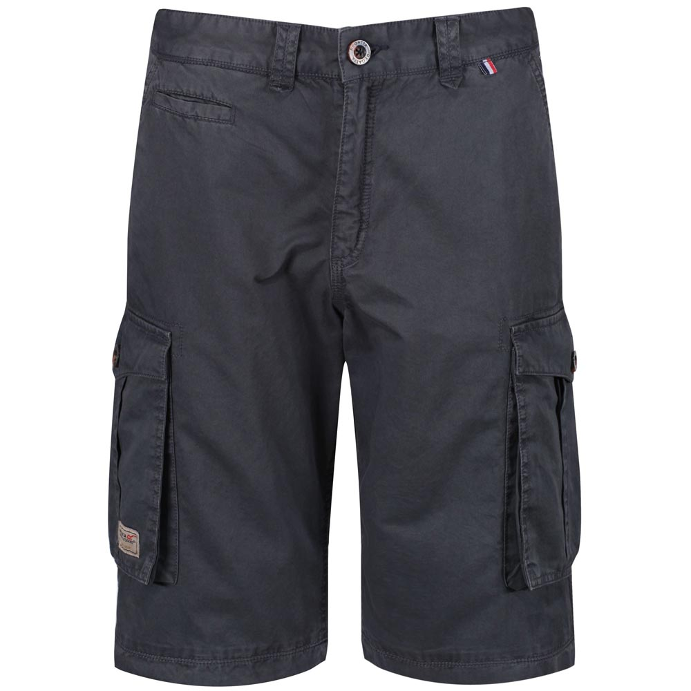 Regatta Mens Shorebay Vintage Cargo Shorts Seal Grey