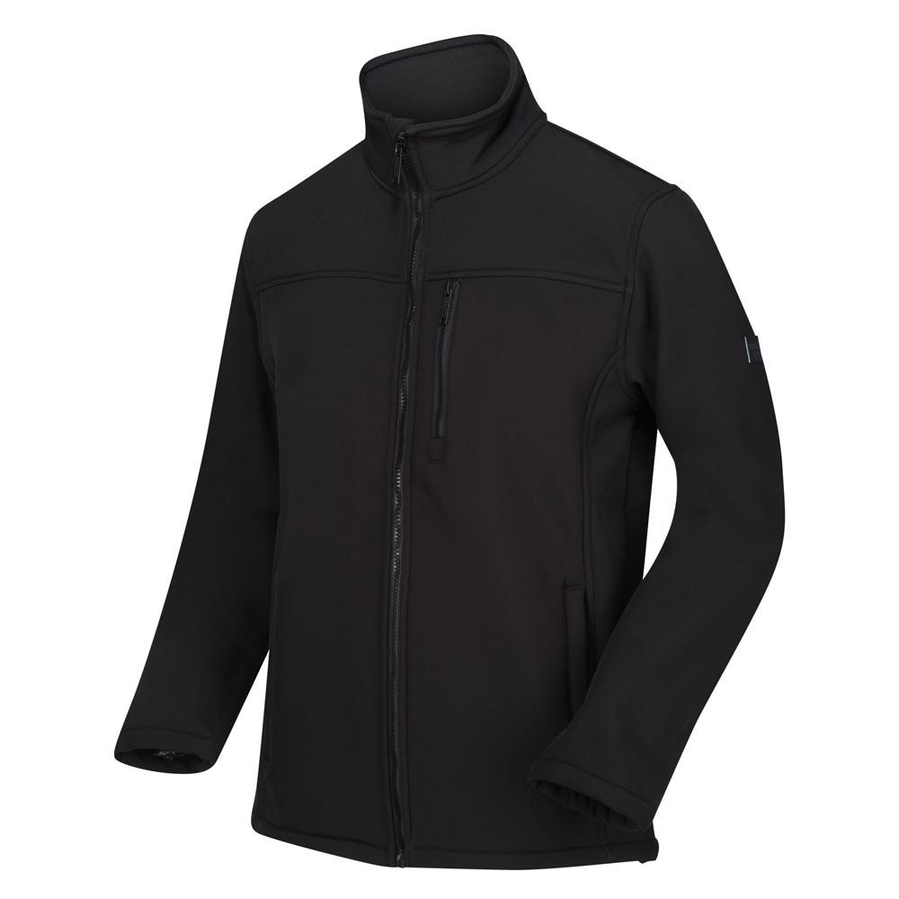 Regatta Mens Conlan Ii Windproof Softshell Jacket-black-3xl