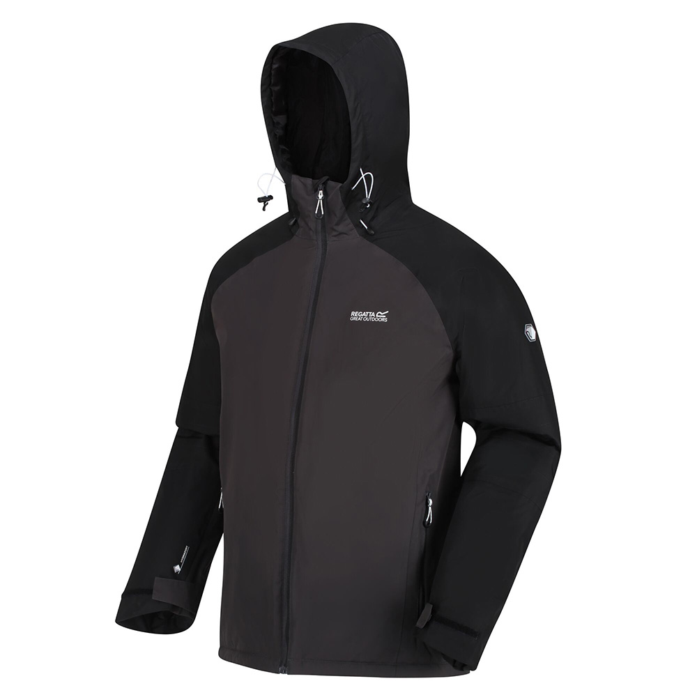 Regatta Mens Volter Protect Waterproof Insulated Heated Jacket-ash / Black-l