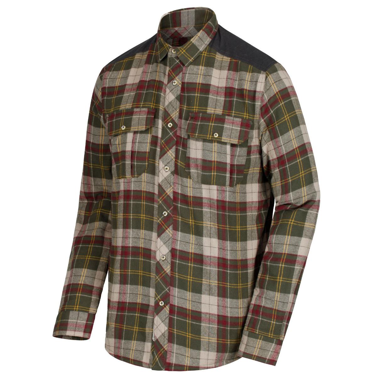 Regatta Mens Tyrion Cotton Shirt - Dark Khaki- 2XL