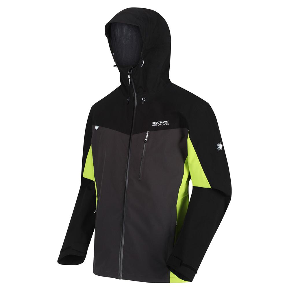 Regatta Mens Birchdale Waterproof Jacket-ash / Black-2xl
