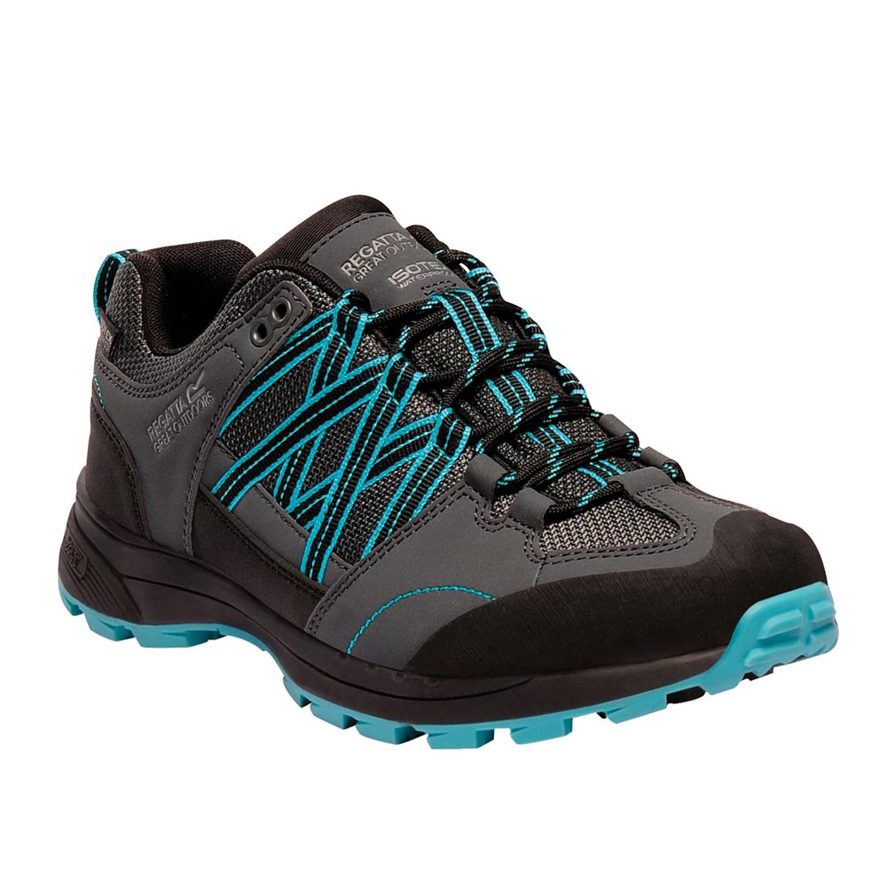 Regatta Womens Samaris Ii Low Hiking Shoes - Briar / Azure Blue - 8