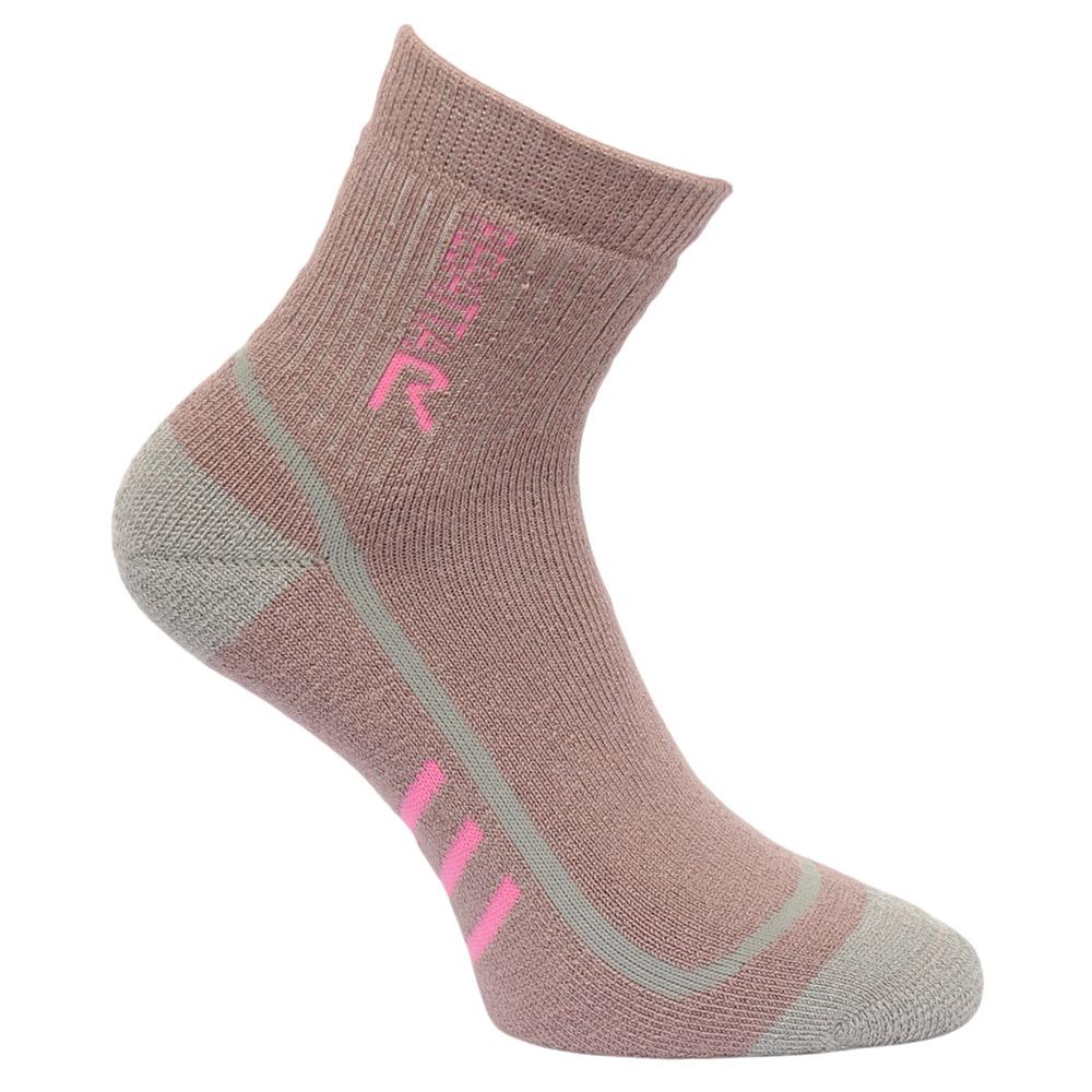 Regatta Womens 3 Season TrekandTrail Socks-mauve / Raspberry Rose-3 - 5
